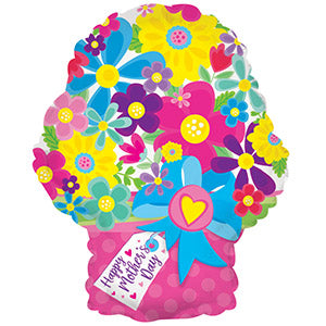 Happy Mother's Day Flower Bouquet Air-Filled Stick Balloon