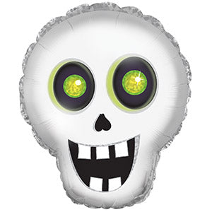 Silly Skull Air-Filled Stick Balloon