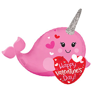 Happy Valentine's Day Narwhal