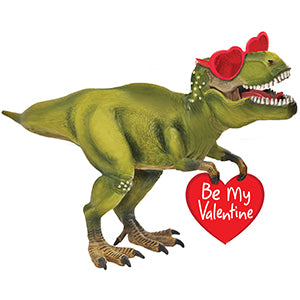 Be My Valentine Dino Air-Filled Stick Balloon