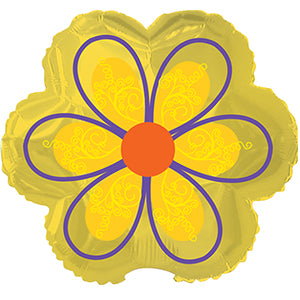 Yellow Flower with Swirls