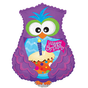 Happy Birthday Owl and Cupcake
