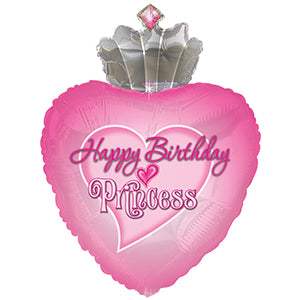 Happy Birthday Princess Crown with Gems