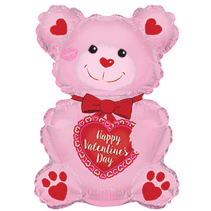 Happy Valentine's Day Pink Teddy