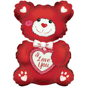 I Love You Red and White Teddy