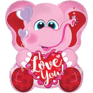 I Love You Pink Elephant