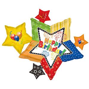 Happy Birthday Graphic Star Cluster