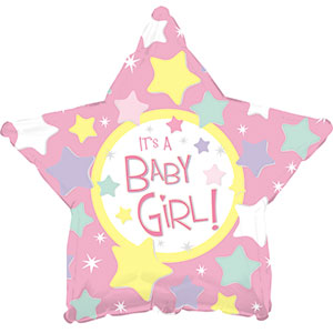 It's a Girl Pink Star