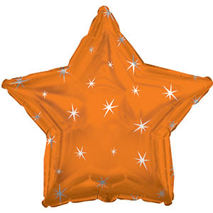 Orange Sparkle Star