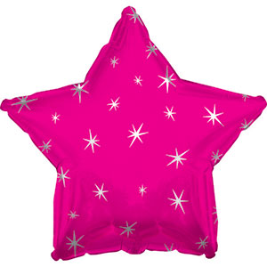 Hot Pink Sparkle Star