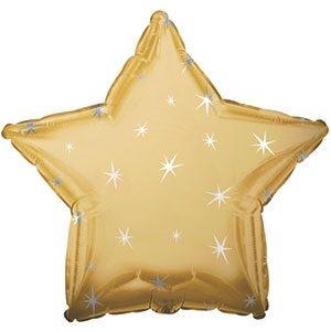 Antique Gold Sparkle Star