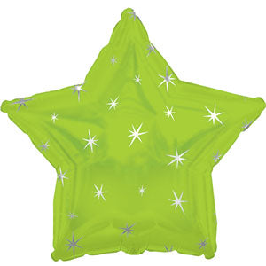 Lime Green Sparkle Star