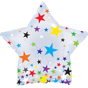 Clear Confetti Star