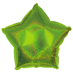 Lime Green Dazzle Star Air-Filled Stick Balloon