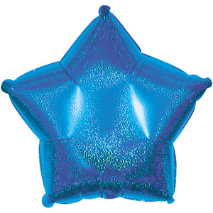 Blue Dazzle Star Air-Filled Stick Balloon