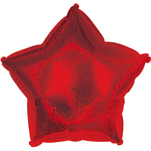 Red Dazzle Star Air-Filled Stick Balloon