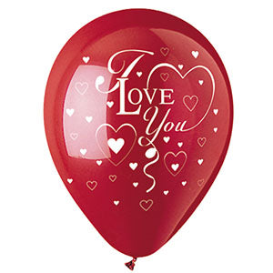 I Love You Hearts Latex 1-Sided Print