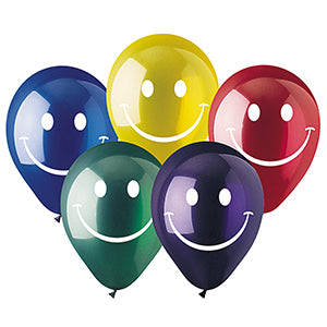 Assorted Smiley Face Crystal Latex 2-Sided Print