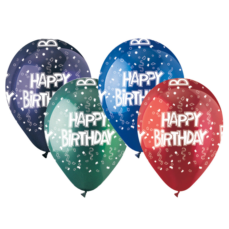 Festive Birthday Crystal Latex All-Around Print