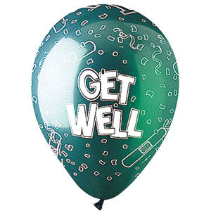 Festive Get Well Latex Assortment All-Around Print