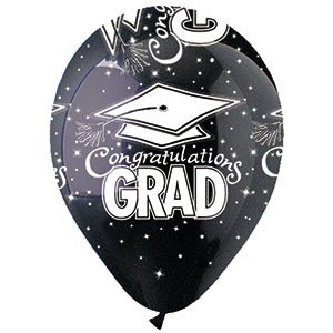 Black Congrats Grad Latex All-Around Print