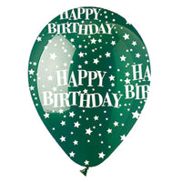 Assorted Happy Birthday Stars Crystal Latex All-Around Print