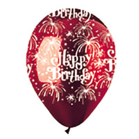 Birthday Fireworks Crystal Latex All-Around Print