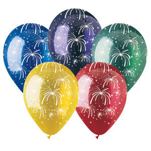Assorted Fireworks Crystal Latex All-Around Print