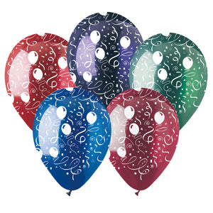Assorted Festive Streamers Crystal Latex All-Around Print