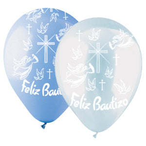 Beliz Bautizo (Boy) Assorted Crystal Clear and Standard Light Blue Latex All-Around Print