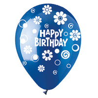 Assorted Happy Birthday Dots and Daisies Crystal Latex All-Around Print