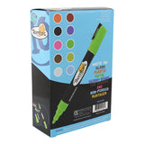 Thornton's Art Supply Liquid Chalk Markers with Reversible Tips, Assorted Neon Colors, Pack of 10