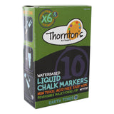 Thornton's Art Supply Liquid Chalk Markers with Reversible Tips, Assorted Earth Tone Colors, Pack of 10