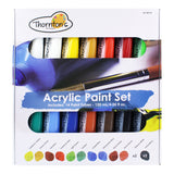 Thornton's Art Supply Acrylic Paint Tubes, Assorted Colors, 120ml (4.0oz), Set of 14