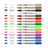 Thornton's Art Supply Oil-Based Paint Marker, Fine Point, Assorted Colors, Set of 15