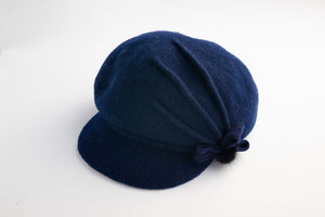Hat - Woollen Felt Beret Style with Side Bow