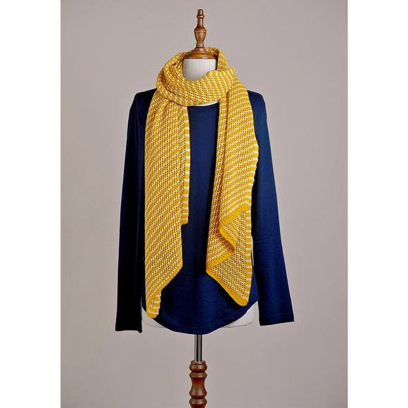 Scarf : Stylist in Mustard Stripe