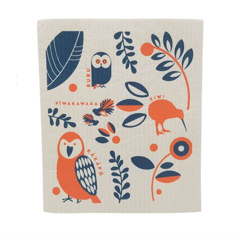 Toodles Noodles - NZ Birds - Swedish Dishcloth