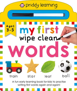 My First Wipe Clean Words - Priddy Learning