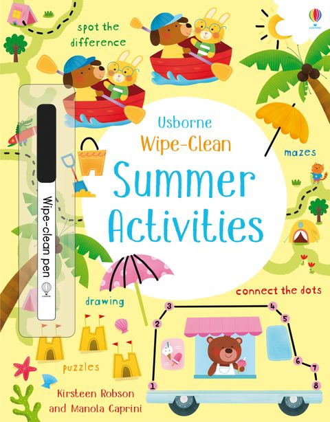 Usborne Wipe Clean Summer Activities