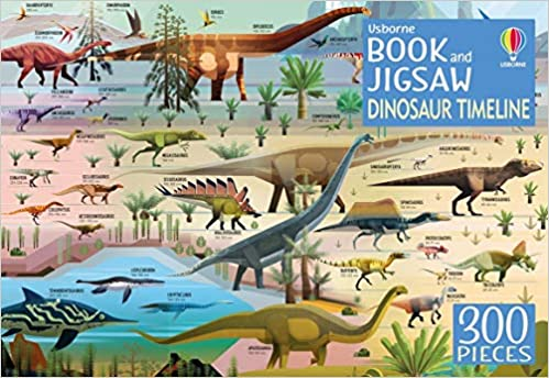 Usborne Dinosaur Timeline Book and Jigsaw