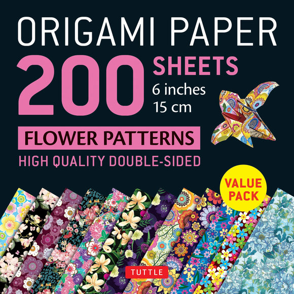 Origami Paper 200 sheets Flower Patterns (15 cm): Tuttle Origami Paper