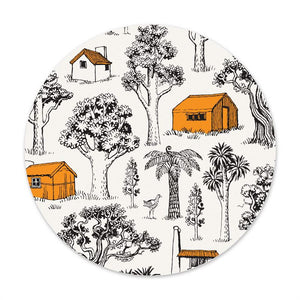 NZ Tramping Huts - Round Swedish Dishcloth