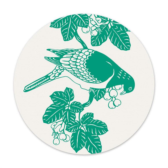 Kereru & Puriri - Round Swedish Dishcloth