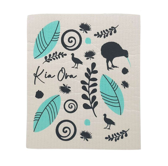 Toodles Noodles - Kia Ora - Swedish Dishcloth