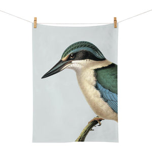 Hushed Blue Kingfisher - Tea Towel