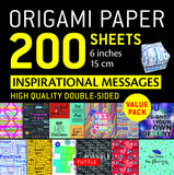 Origami Paper 200 sheets Inspirational Messages (15 cm): Tuttle Origami Paper