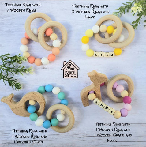 Handmade Custom Teething Ring