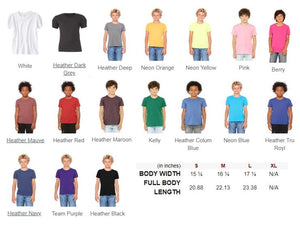 Bella Youth Unisex Crew Customizable T-Shirt