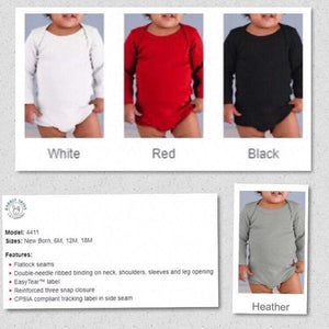 Color Bodysuits Long Sleeve Customizable Shirts